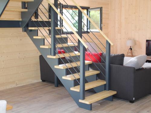 ES010 - Escalier bois imitation fer et bois