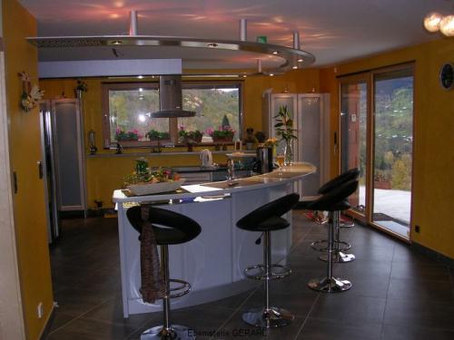 CC003-Cuisine bar arrondi