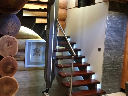 Escalier poteau et crémaillere