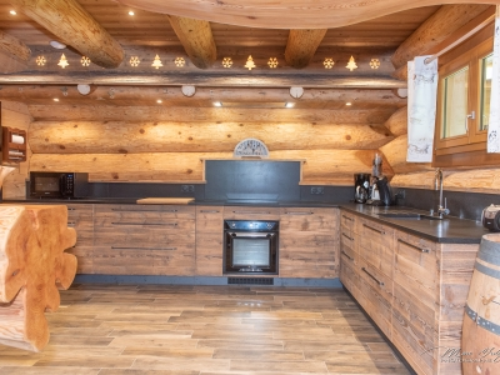 Cuisine vieux bois et granit