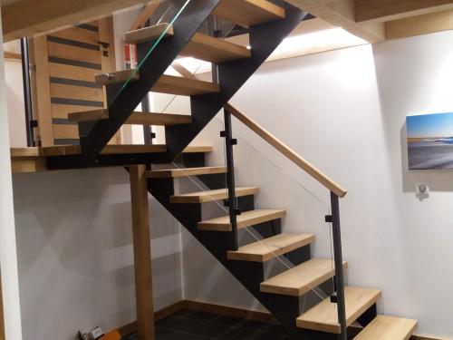 Escalier chêne et fer