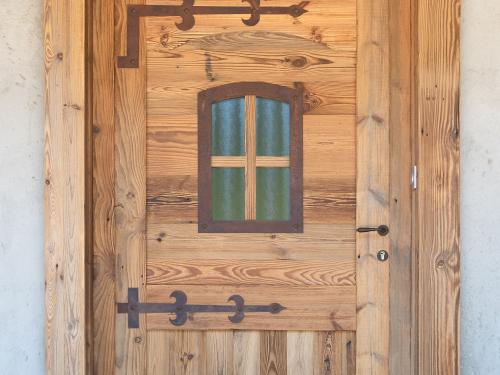 Porte entrée fer et vieux bois